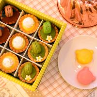 父親節美食推薦❤母親節蛋糕❤彌月首選【免運】【蘇格蕾】巴黎小塔9入禮盒+2入法芙娜小熊馬卡龍~讓人尖叫的超級含運組合!!