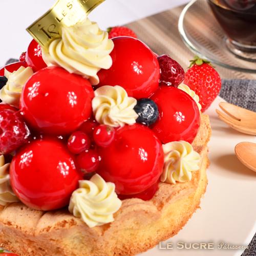 【連假野餐必備】❤母親節蛋糕評比得獎❤【蘇格蕾】6 吋- 莓果寶石蛋糕~草莓與覆盆子的巧妙搭配,酸甜口感在搭配上香濃的白巧克力起司,不甜不膩,冬季甜點首選!!!