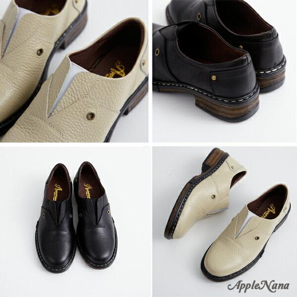 AppleNana。我愛金惠珍。她很漂亮復古氣墊圓頭平底鞋【QT17061580】蘋果奈奈 2