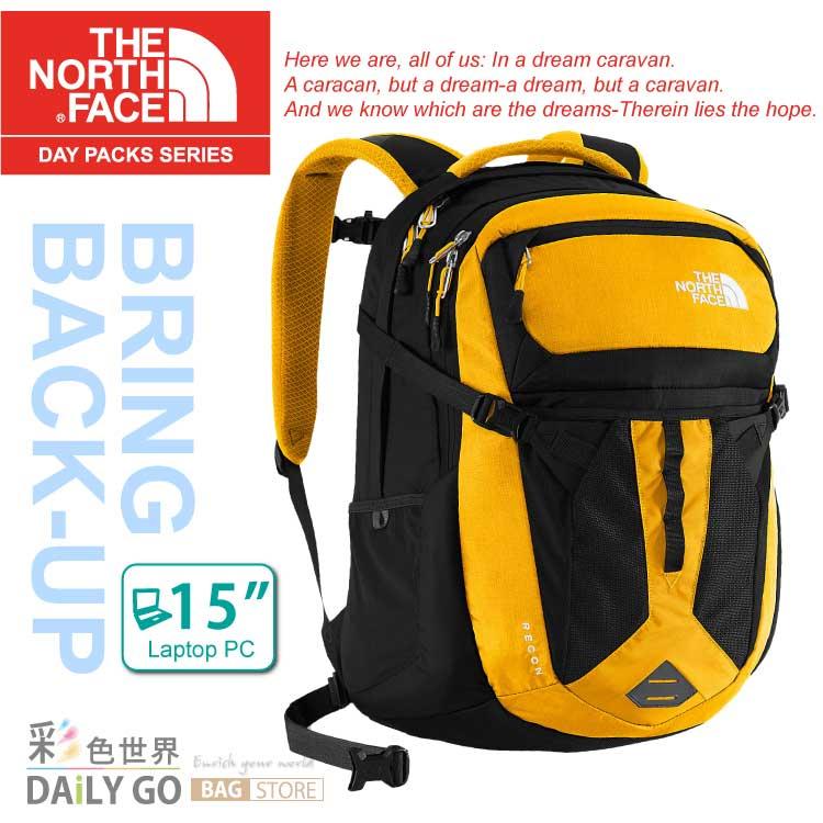 The North Face 15吋電腦背包 31L-光諸黃/黑 CLG4-WT3