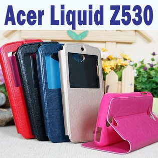 【冰河時代】Acer Liquid Z530/T02 視窗側掀皮套/側翻保護套/側開皮套/軟殼/支架斜立展示/手拿包