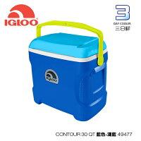 新手露營用品推薦到【熱賣中】IgLoo CONTOUR系列30QT冰桶49477.44208.44642 /城市綠洲專賣 (保鮮、保冷、美國製造、露營、釣魚)