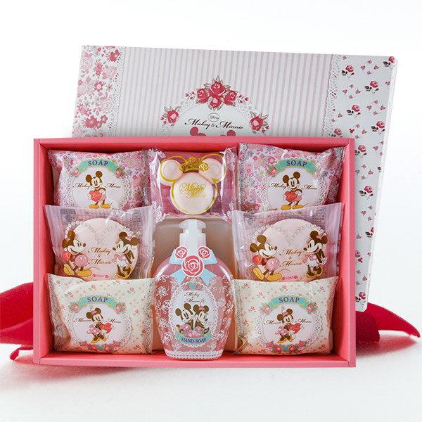日本製 米奇&米妮玫瑰香皂禮盒組(大) 0