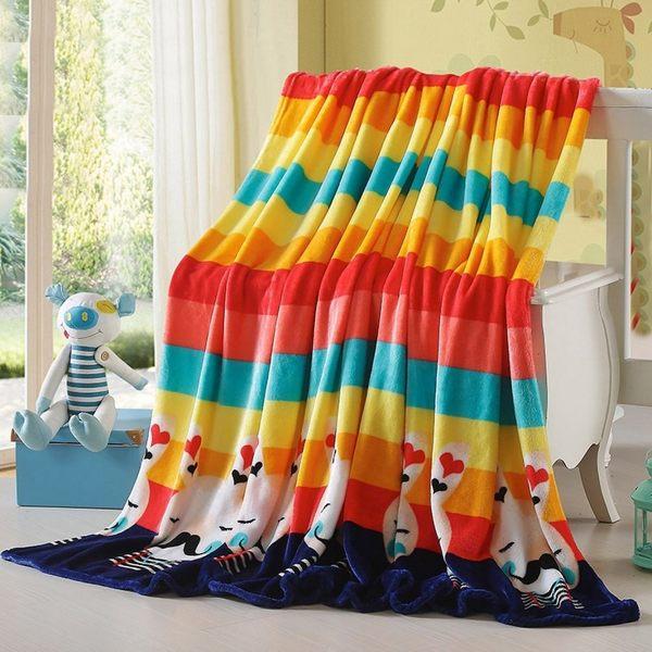 PS Mall 法蘭絨毛毯 珊瑚絨升級保暖毛毯 毯子 120*200CM【J389】