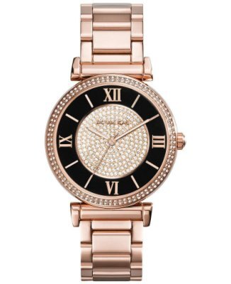 【MICHAEL KORS】正品 羅馬字母璀璨晶鑽-玫瑰金腕錶  MK3339 0