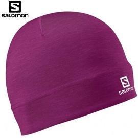 [ Salomon ] 女 Active Beanie帽 紫紅 / 保暖帽 / 公司貨 353121