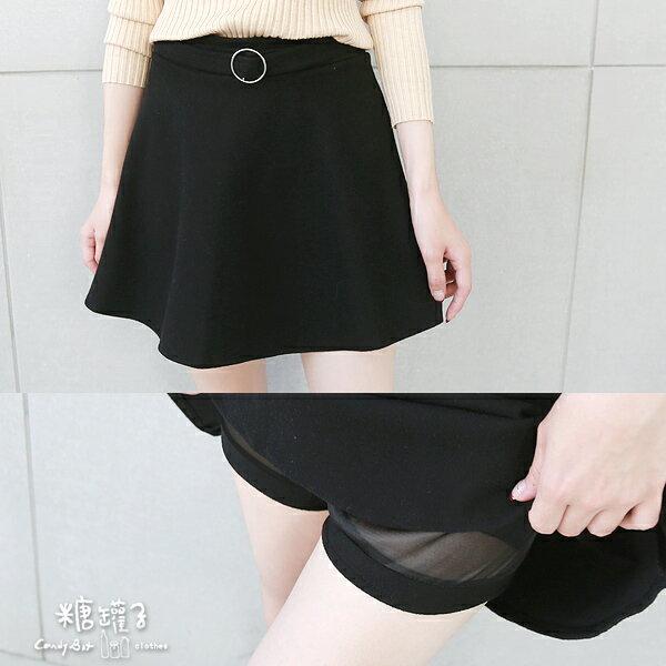 ★原價499五折250★糖罐子金屬環假腰帶磨毛褲裙→預購【KK4919】 1