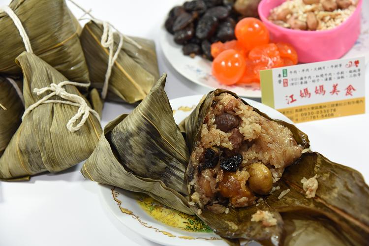 江媽媽美食 干貝栗子蛋黃粽20入❤高雄❤好吃粽子 ~  好康折扣