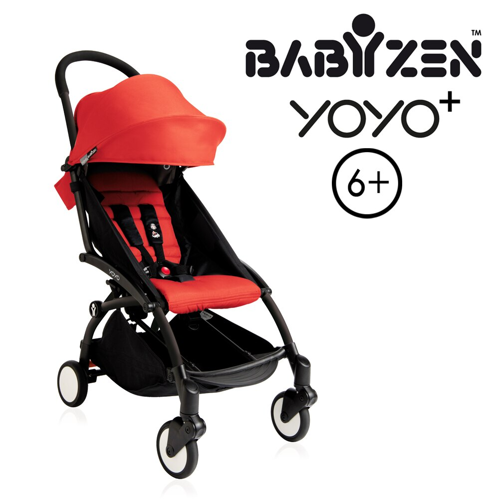 【加購Borny全身包覆墊享$990】法國【BABYZEN】 YOYO-Plus手推車(紅色) 1