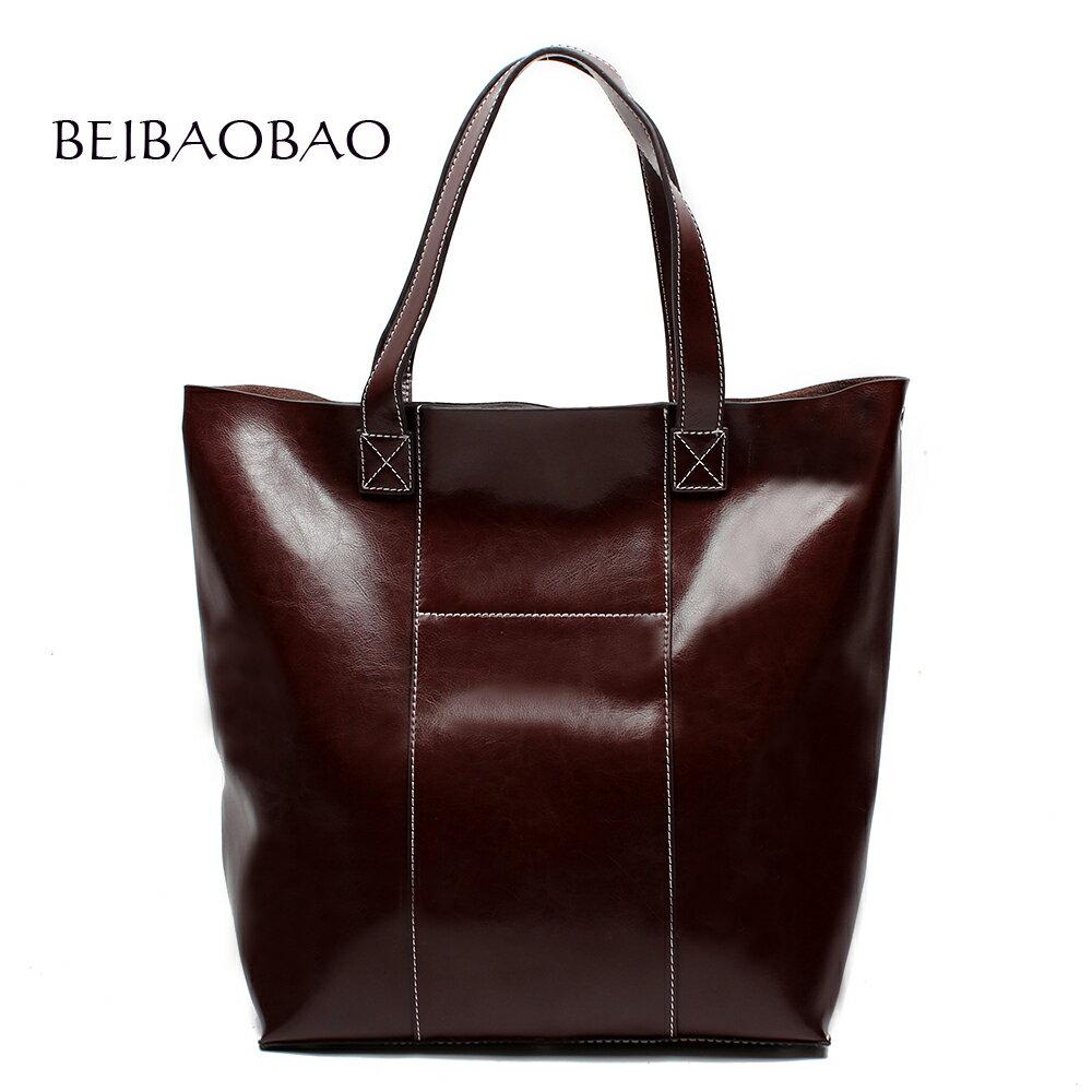 【BEIBAOBAO】氣質東區真皮肩背包(頭層油蠟牛皮) 0