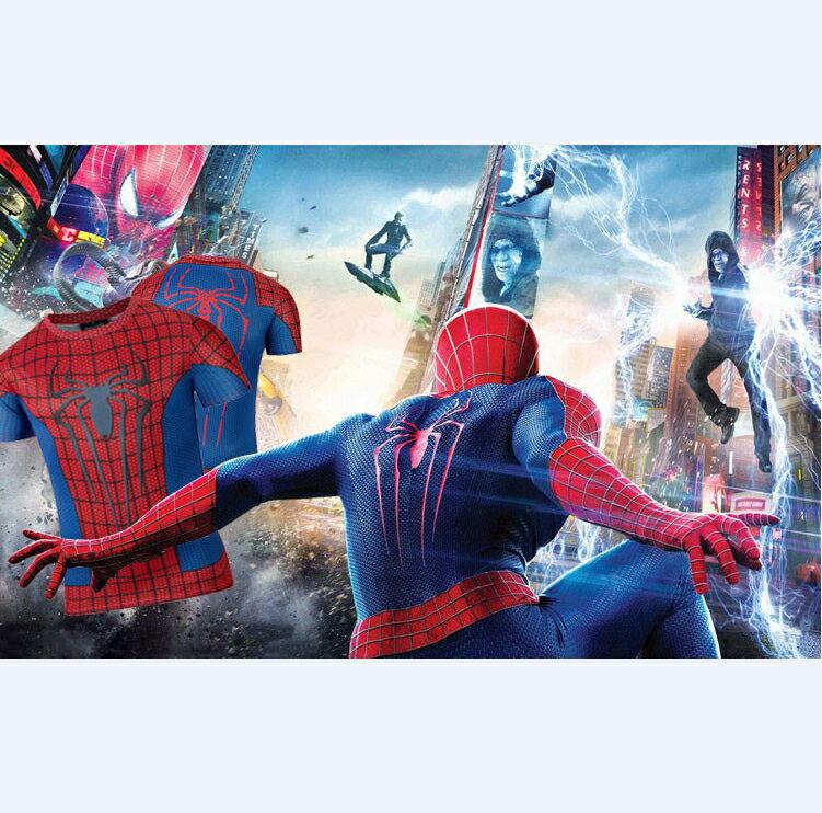 50%OFF【A012837C】蜘蛛人系列短T漫威卡通復仇者聯盟電影歐美街頭男女可穿英雄牛奶絲短T