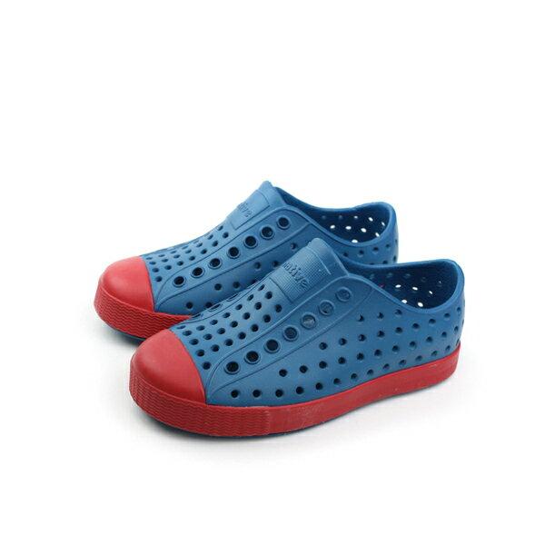 native JEFFERSON 洞洞鞋 童鞋 藍紅色 小童 no535