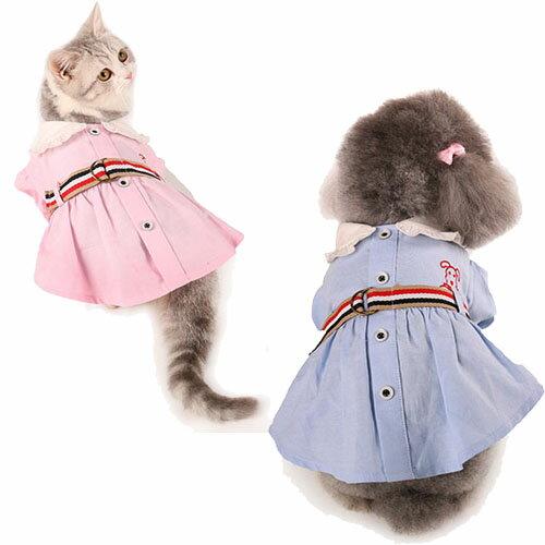 【小樂寵】荷葉領口學生制服連身裙