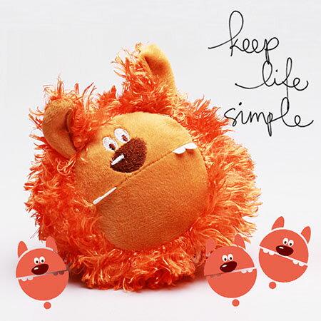 【Co.S】爆炸橘黃獅子發聲玩具