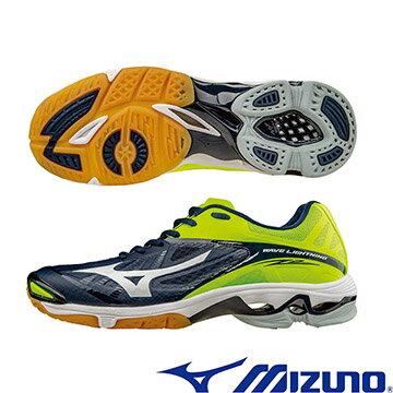 V1GA160010(深藍X白X黃﹞WAVE LIGHTNING Z2 高階輕量排球鞋  A【美津濃MIZUNO】