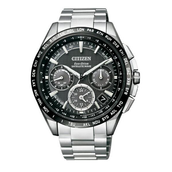 CITIZEN星辰CC9015~54E金城武廣告款鈦金屬GPS衛星對時光動能腕錶 黑面44