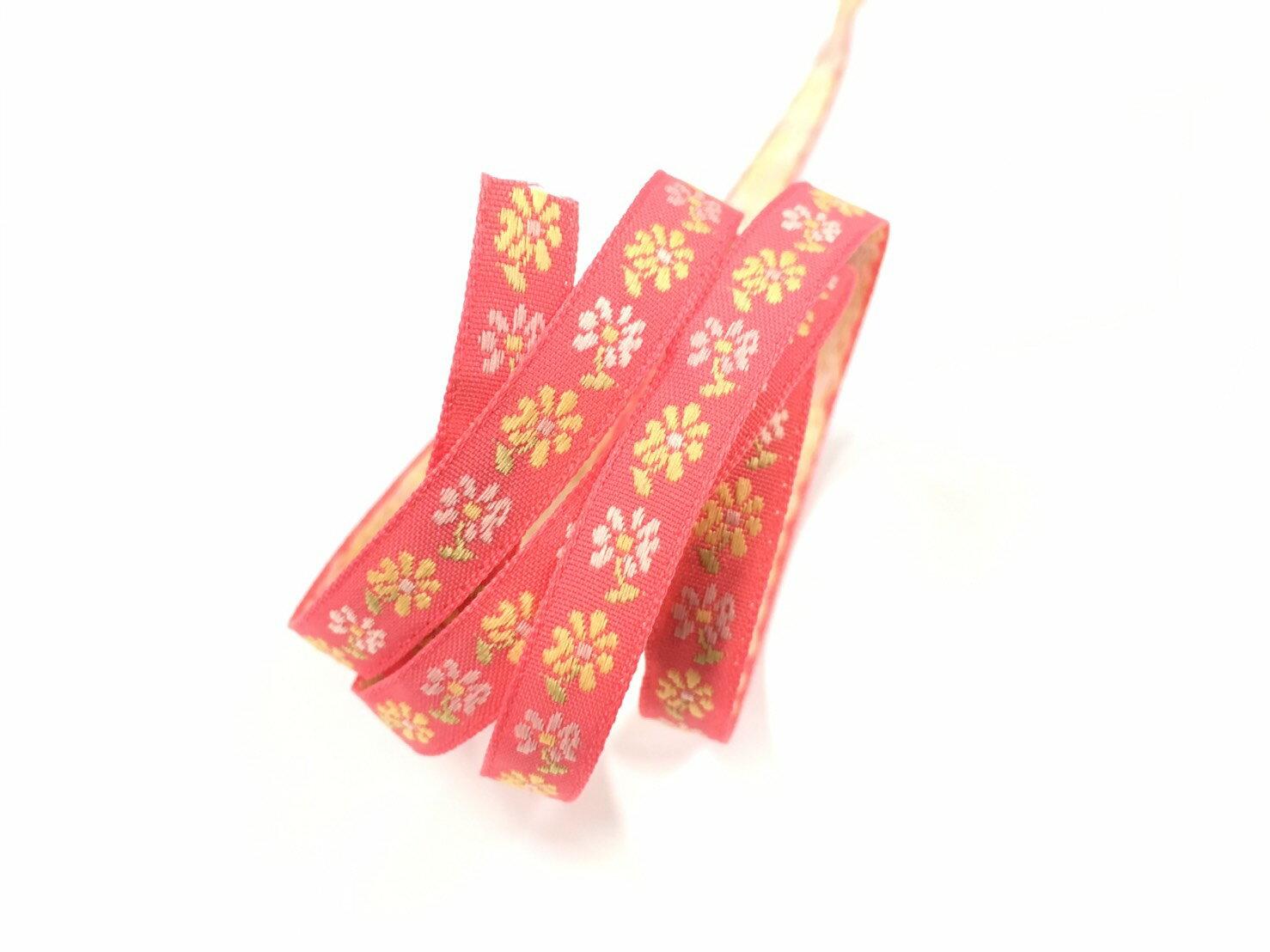 五瓣緹花緞帶 9mm 3碼 (7色) 1