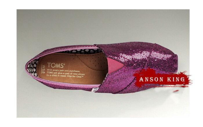 [女款] 國外代購TOMS 帆布鞋/懶人鞋/休閒鞋/至尊鞋 亮片系列  紫色 2