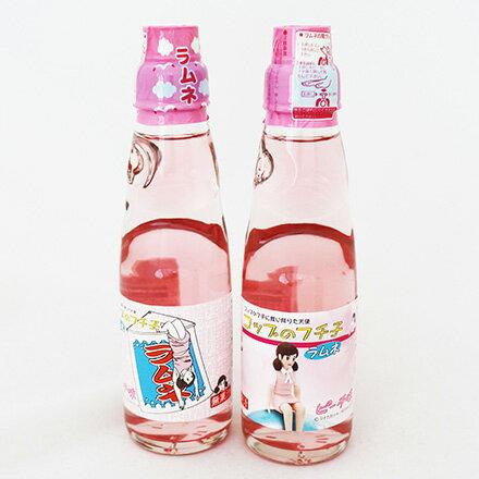 [敵富朗超市]齊藤飲料 杯緣美女彈珠汽水(200ml) - 限時優惠好康折扣