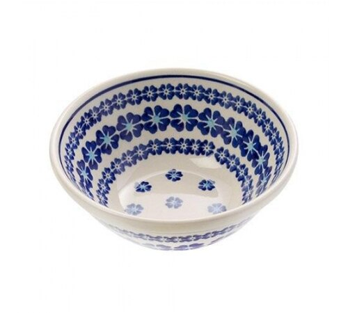 【預購】Polish Pottery波蘭陶- 可愛14.5cm餐碗 - 典雅小藍花 0