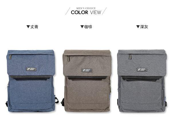 ☆BOY-2☆【NQA5083】男背包 素面翻蓋機能後背包 潮流型男包 1