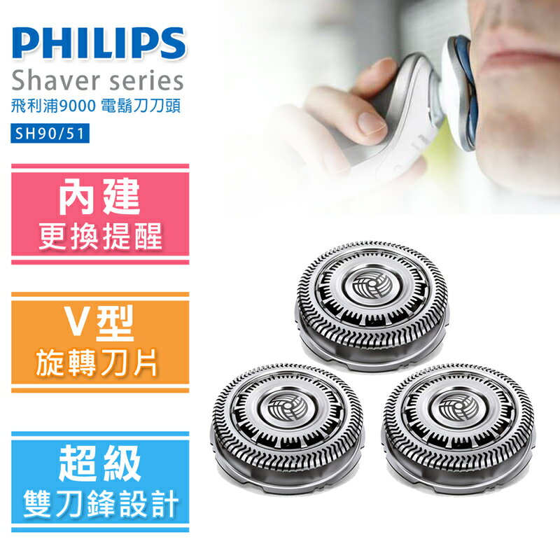 【飛利浦 PHILIPS】Shaver series 9000 電鬍刀刀頭(SH90)