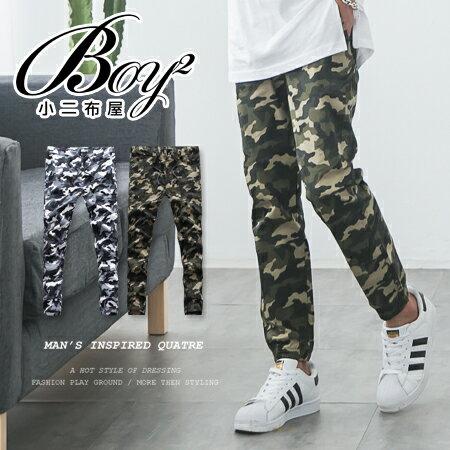 ☆BOY-2☆【NQ95032】縮口褲 軍裝迷彩休閒束口褲 0