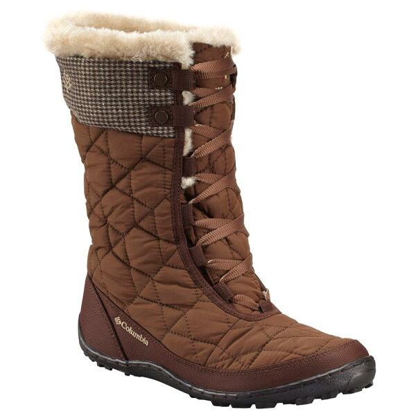 《台南悠活運動家》Columbia 美國 女多功能高筒戶外靴 咖啡 16240CF