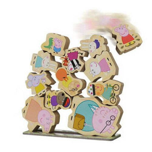 【粉紅豬小妹】木頭堆高遊戲組 PE04067