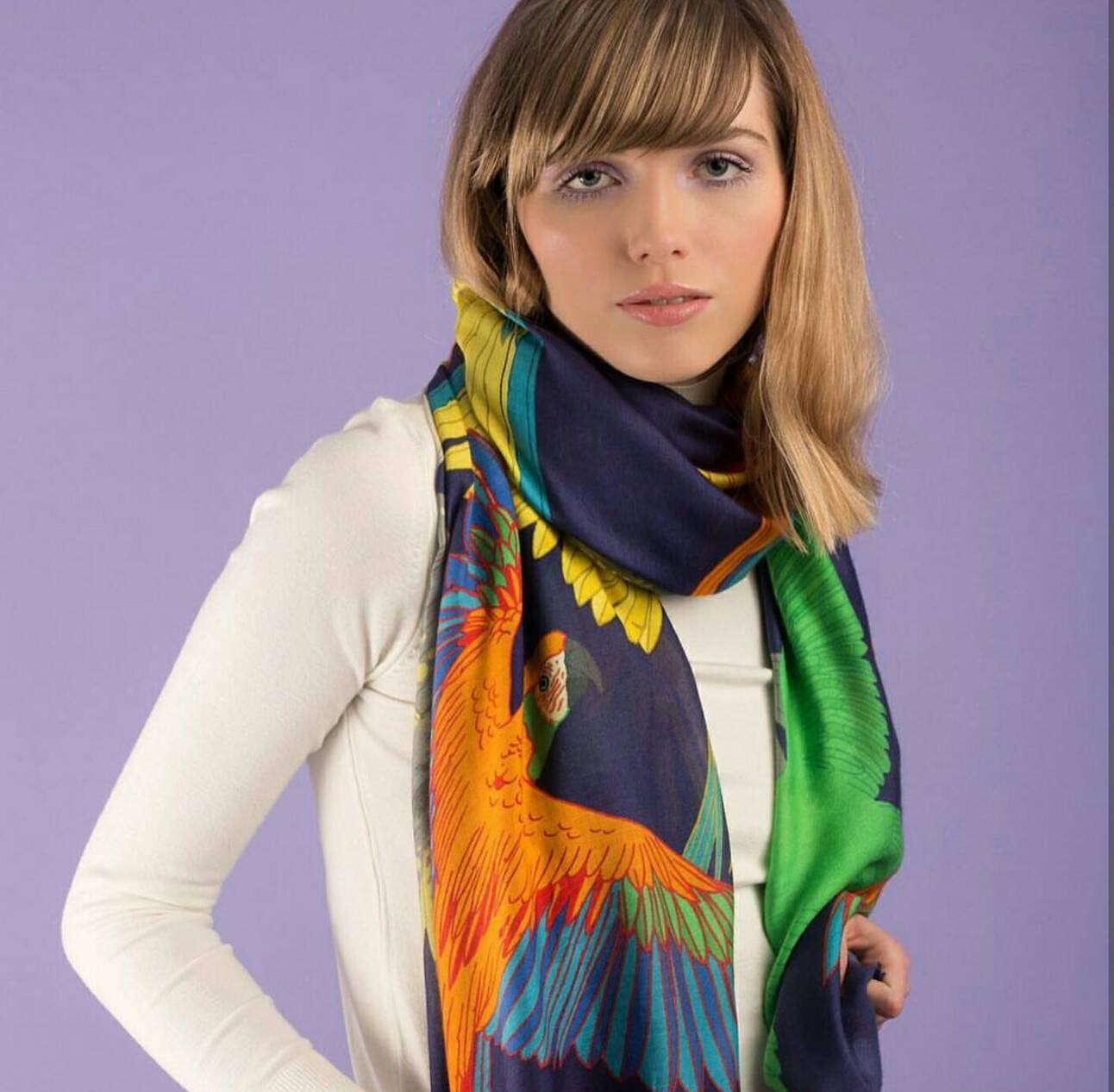 ~Grace Boutique~100^% silk 英國品牌 Karen Mabon 絲