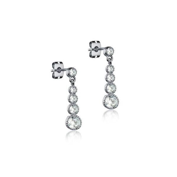 最新款韓風水滴水鑽造型鍍白金鍍18K金耳環耳飾