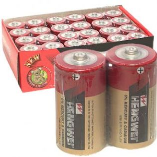 ■■iMake曖昧客■■ HENGWEI(紅)環保碳鋅電池-2號 (186844002000000)