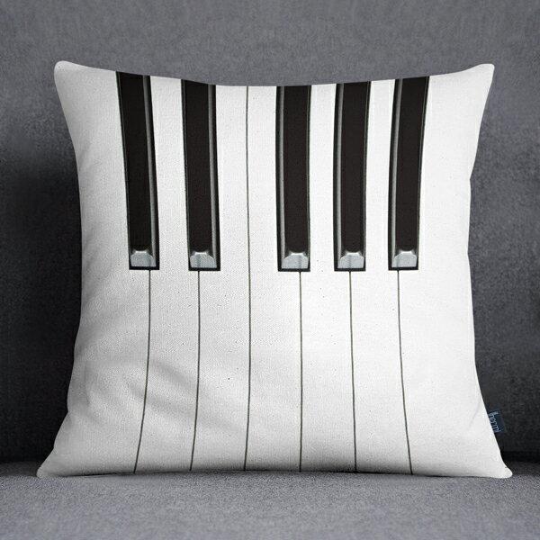 [ IHERMI] 鋼琴鍵B款抱枕 (45*45CM ) 愛好蜜  MIT台灣製造好安心 環保染劑使用 極細緻印染技術 0