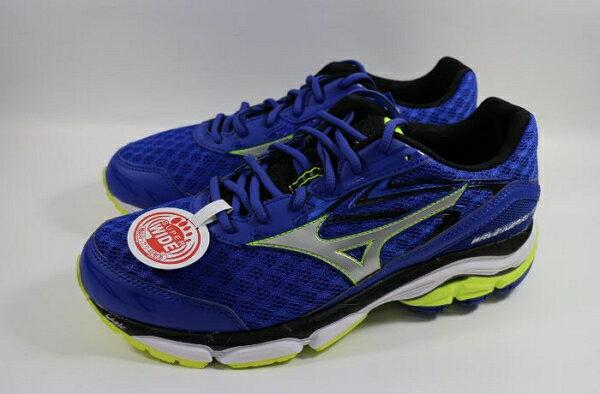 [陽光樂活] MIZUNO 美津濃 男 Wave慢跑鞋支撐型 超寬楦 WAVE INSPIRE 12 J1GC164503 藍
