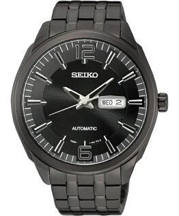 Seiko 精工五號 7S26-04H0SD((SNKN63J1)雙日曆經典腕錶/黑面45mm