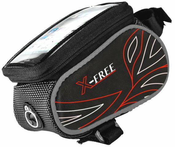 《意生》防水X-FREE六色配車可放手機4吋到6吋皆可用018自行車觸控上管包 小馬鞍袋龍頭包手把包手機包手機袋