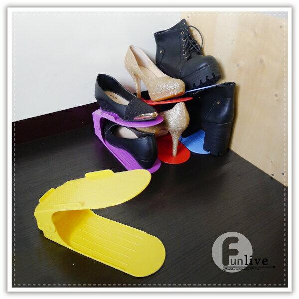 【aife life】二代可調式彩色鞋架/加厚創意鞋架/日式收納鞋架/簡易鞋架/雙層疊放鞋架/調節式鞋架