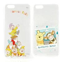 小熊維尼周邊商品推薦【Disney 】iPhone 6 plus 彩繪可愛風透明保護硬殼-七矮人/旅行維尼