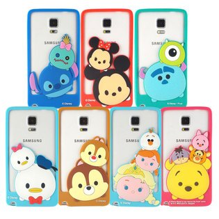 【Disney 】Samsung Galaxy Note4 TSUM TSUM 可愛造型立體矽膠邊框軟套