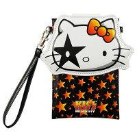 凱蒂貓週邊商品推薦到【KISS HELLO KITTY 】5.7 吋通用經典大頭繽紛皮革手機袋-搖滾星星