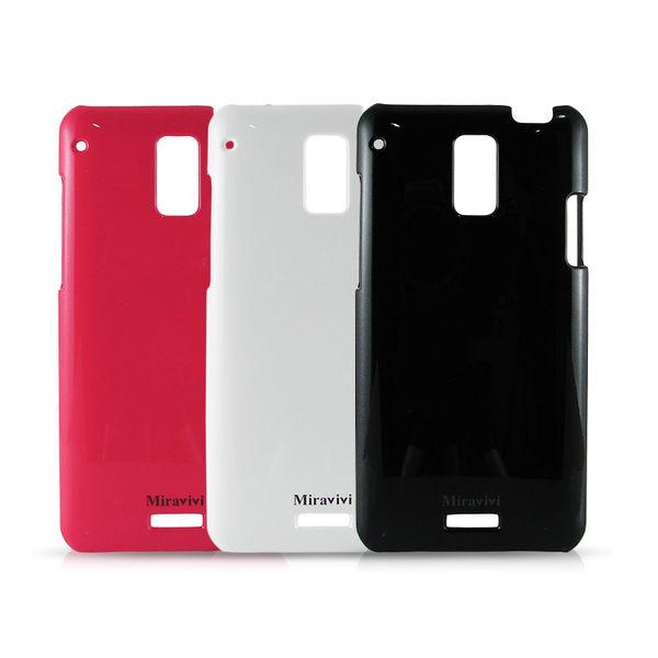 Miravivi HTC J 時尚珠光保護彩殼-紅/黑/白