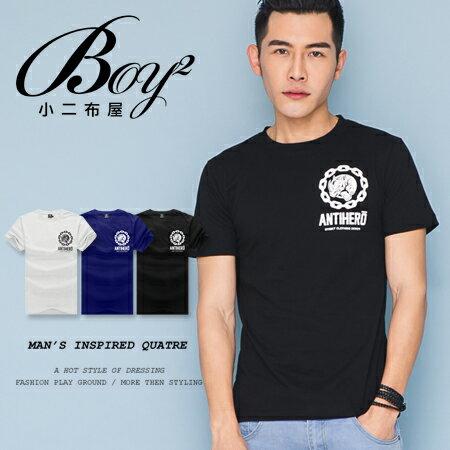 ☆BOY-2☆【JJ737】韓版潮流素面犀牛短袖T恤 0