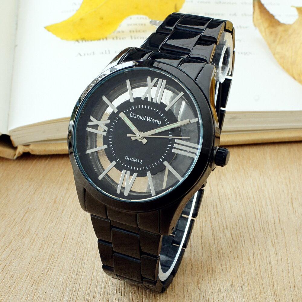 Daniel Wang 2202-IP 激似CK風格炫彩鏤空羅馬數字鐵帶錶 6