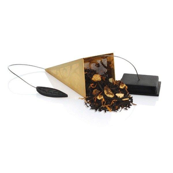 Tea Forte 23K鍍金金字塔型茶包濾茶器 Icon Au Gold Loose Tea Infuser 1