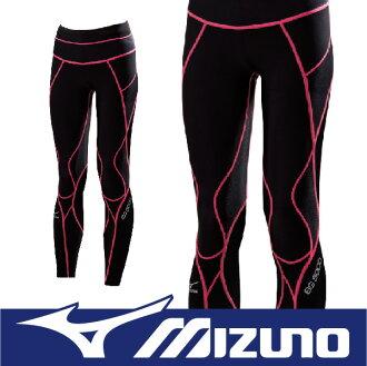 MIZUNO 美津濃 BIOGEAR BG5000 壓縮褲 壓力褲 支撐保護 吸汗快乾 彈性佳 抗紫外線 A76BP-30094黑x粉紅 (女)
