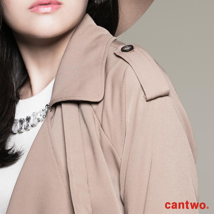 cantwo軍裝風軟料風衣(共二色) 4