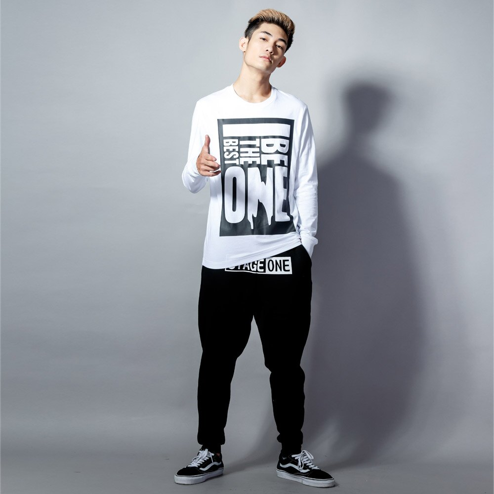 STAGEONE BE THE BEST ONE LS TEE 黑色 白色 兩色 1