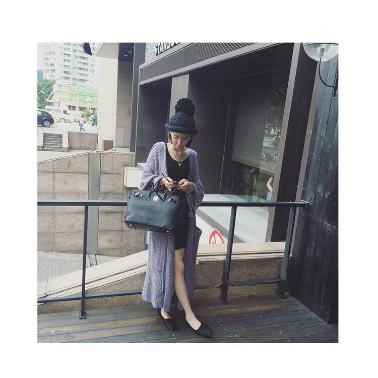 毛帽 素色麻花粗毛線反折針織帽【QI1751】 BOBI  11/03 2