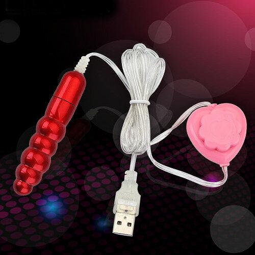 【紫星情趣用品】●小S跳蛋 超強力USB(微調式)螺紋跳蛋-紅色(E00155)