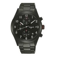 agnès b.到agnes b VD57-KT20SD(BM3011X1)情人限量巴黎時尚計時腕錶/黑面40mm